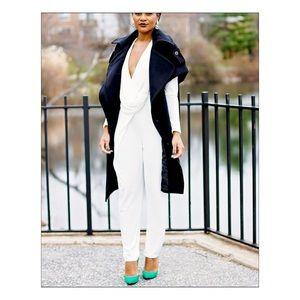 b75749fd456 Nasty Gal Pants - NWT Nasty Gal Swipe Right Drape White Jumpsuit